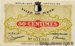 50 Centimes FRANCE régionalisme et divers Metz 1918 JP.131.01 SPL à NEUF