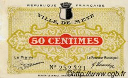 50 Centimes FRANCE régionalisme et divers METZ 1918 JP.131.01 TB