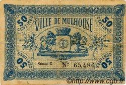 50 Centimes FRANCE régionalisme et divers MULHOUSE 1918 JP.132.01 TTB à SUP