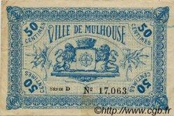 50 Centimes FRANCE régionalisme et divers MULHOUSE 1918 JP.132.01 TB