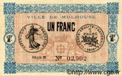 1 Franc FRANCE régionalisme et divers MULHOUSE 1918 JP.132.02 SPL à NEUF