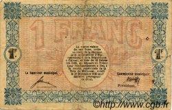 1 Franc FRANCE régionalisme et divers MULHOUSE 1918 JP.132.02 TB