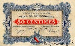 50 Centimes FRANCE régionalisme et divers STRASBOURG 1918 JP.133.01 TTB à SUP