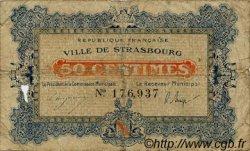 50 Centimes FRANCE régionalisme et divers STRASBOURG 1918 JP.133.01 TB