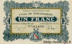 1 Franc FRANCE régionalisme et divers STRASBOURG 1918 JP.133.04 SPL à NEUF