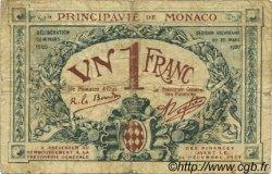1 Franc FRANCE régionalisme et divers MONACO 1920 JP.136.06 TB