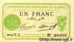 1 Franc FRANCE régionalisme et divers Alger 1914 JP.137.03 SPL à NEUF