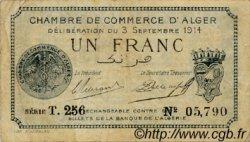 1 Franc FRANCE régionalisme et divers Alger 1914 JP.137.04 TB