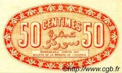 50 Centimes FRANCE régionalisme et divers ALGER 1915 JP.137.05 SPL à NEUF