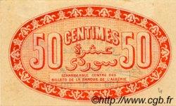 50 Centimes FRANCE régionalisme et divers ALGER 1915 JP.137.05 TTB à SUP