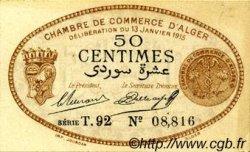 50 Centimes FRANCE régionalisme et divers Alger 1915 JP.137.09 TTB à SUP