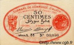 50 Centimes FRANCE régionalisme et divers Alger 1919 JP.137.11 SPL à NEUF