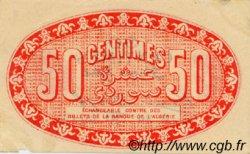 50 Centimes FRANCE régionalisme et divers ALGER 1919 JP.137.11 TTB à SUP