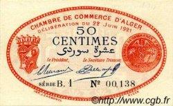 50 Centimes FRANCE régionalisme et divers Alger 1921 JP.137.19 SPL à NEUF