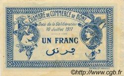 1 Franc FRANCE régionalisme et divers BÔNE 1917 JP.138.05 SPL à NEUF