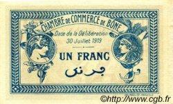 1 Franc FRANCE régionalisme et divers BÔNE 1918 JP.138.07 SPL à NEUF