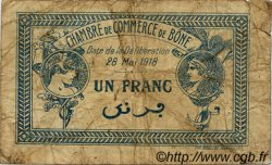 1 Franc FRANCE régionalisme et divers Bône 1918 JP.138.07 TB