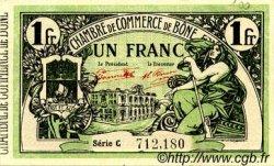 1 Franc FRANCE régionalisme et divers BÔNE 1921 JP.138.15 TTB à SUP