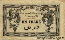 1 Franc FRANCE régionalisme et divers Bône 1921 JP.138.15 TB