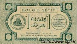 1 Franc FRANCE régionalisme et divers BOUGIE, SETIF 1915 JP.139.02 TTB à SUP