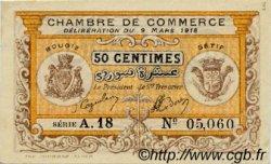 50 Centimes FRANCE régionalisme et divers BOUGIE, SETIF 1918 JP.139.03 TTB à SUP