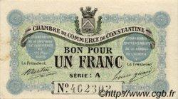 1 Franc FRANCE régionalisme et divers CONSTANTINE 1915 JP.140.02 TTB à SUP