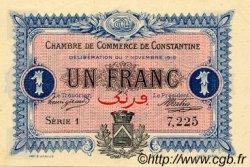1 Franc FRANCE régionalisme et divers CONSTANTINE 1916 JP.140.10 SPL à NEUF