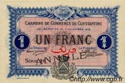 1 Franc FRANCE régionalisme et divers CONSTANTINE 1916 JP.140.11 TTB à SUP