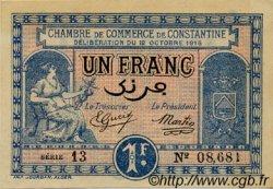 1 Franc FRANCE régionalisme et divers Constantine 1918 JP.140.18 SPL à NEUF