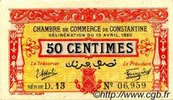 50 Centimes FRANCE régionalisme et divers CONSTANTINE 1920 JP.140.23 SPL à NEUF