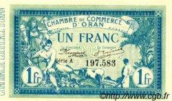 1 Franc FRANCE régionalisme et divers Oran 1915 JP.141.02 SPL à NEUF
