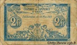 2 Francs FRANCE régionalisme et divers ORAN 1915 JP.141.03 TB