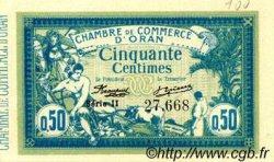 50 Centimes FRANCE régionalisme et divers Oran 1915 JP.141.04 SPL à NEUF