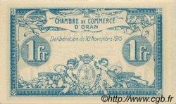 1 Franc FRANCE régionalisme et divers ORAN 1915 JP.141.08 SPL à NEUF