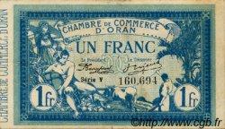 1 Franc FRANCE régionalisme et divers Oran 1915 JP.141.08 TTB à SUP