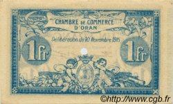 1 Franc FRANCE régionalisme et divers Oran 1915 JP.141.12 TTB à SUP