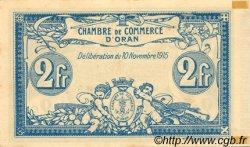 2 Francs FRANCE régionalisme et divers ORAN 1915 JP.141.14 SPL à NEUF