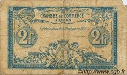 2 Francs FRANCE régionalisme et divers ORAN 1915 JP.141.14 TB