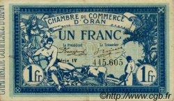 1 Franc FRANCE régionalisme et divers Oran 1915 JP.141.20 TTB à SUP
