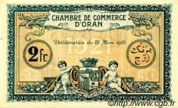 2 Francs FRANCE régionalisme et divers ORAN 1921 JP.141.29 SPL à NEUF