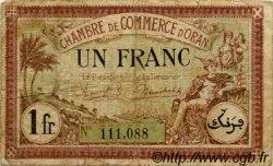 1 Franc FRANCE régionalisme et divers ORAN 1923 JP.141.37 TB