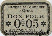 5 Centimes FRANCE régionalisme et divers ORAN 1916 JP.141.44 SPL à NEUF