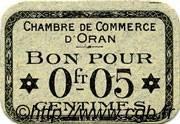5 Centimes FRANCE régionalisme et divers Oran 1916 JP.141.46 SPL à NEUF
