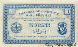 1 Franc FRANCE régionalisme et divers PHILIPPEVILLE 1914 JP.142.06 SPL à NEUF