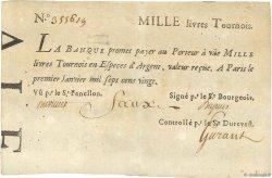 1000 Livres Tournois typographié FRANCE  1720 Dor.29 TTB+