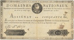 50 Livres FRANCE  1790 Ass.04a TB+