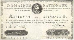 60 Livres FRANCE  1791 Ass.14a SUP+