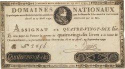90 Livres FRANCE  1790 Ass.08b TTB