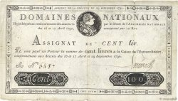 100 Livres FRANCE  1790 Ass.09a pr.TTB