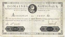 100 Livres FRANCE  1790 Ass.09a pr.TTB